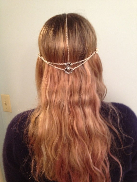 Silver Spider Web Hair Jewelry