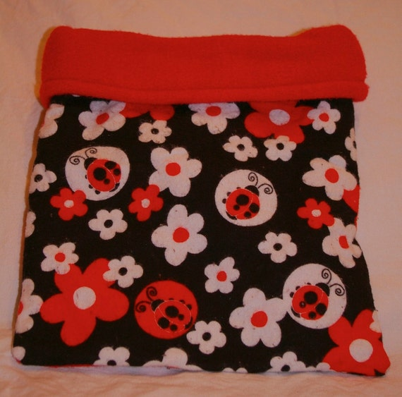 Red and Black Lady Bug Snuggle Bag