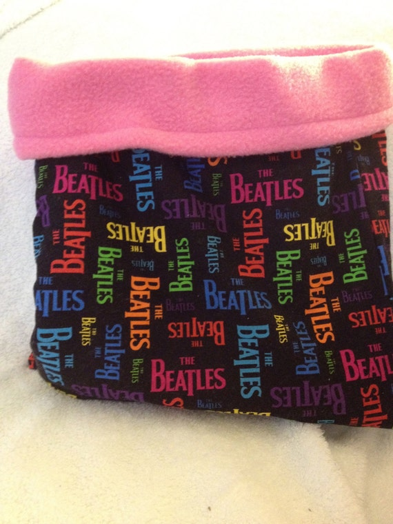 Beatles Black and PInk Snuggle Bag