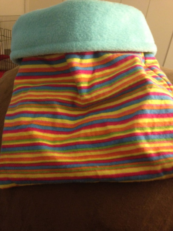 Bright Striped Flannel Snuggle Bag