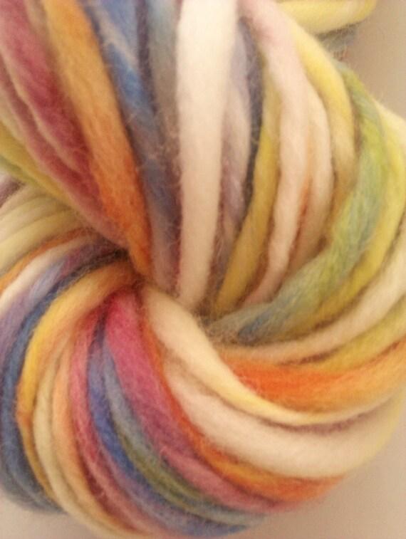 Pick a colour chunky single. Handspun art yarn.  Hand painted and hand spun Pure Australian 21 micron merino.