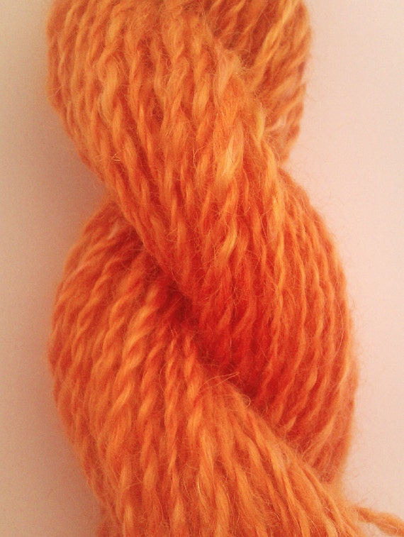 Golden halo - pure kid mohair 2 ply. Hand spun, hand painted art yarn. silky soft
