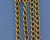 "Light Copper Color Aluminum Curb Chain 6x3.6mm Wide 36"" Long"