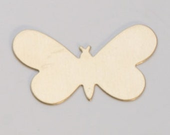 """Brass Butterfly 1-5/16"""" by 3/4""""  24ga PKG of 6 Great Stamping Accessory"""