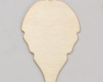 Brass Leaf with Ring 27mm by 18mm 24ga PKG of 6 Great Stamping Accessory