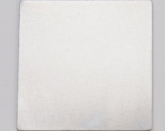 "Nickel Silver Square 1-1/16""  24ga Pkg of 6  Great Stamping Accessory"