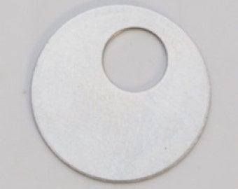 "Nickel Silver Round Washer 7/8"" Outside Diameter and 5/16"" Inside Diameter  24ga Pkg of 6  Great Stamping Accessory"