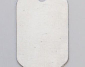 """Nickel Silver Dog Tag with Hole 1-1/4"""" by 3/4"""" 24ga Pkg of 6  Great Stamping Accessory"""