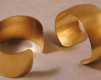 Domed Brass Bracelet Cuff Blanks For Jewelry Making 1 inch Pkg Of 2