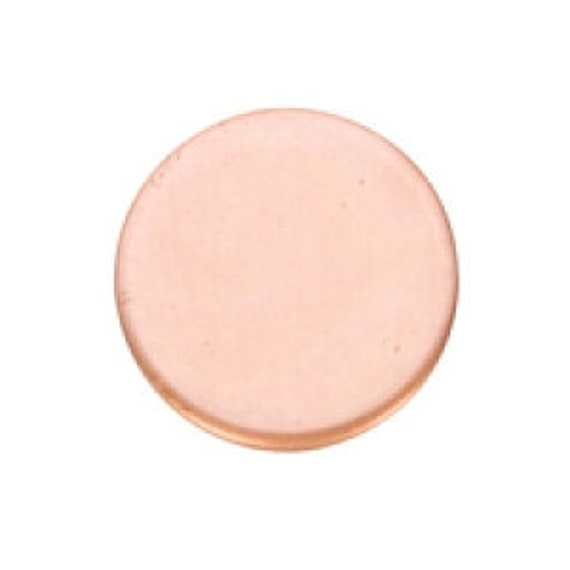 """Copper Circle 1/2""""  18ga Package of 6 Great Stamping Accessory"""