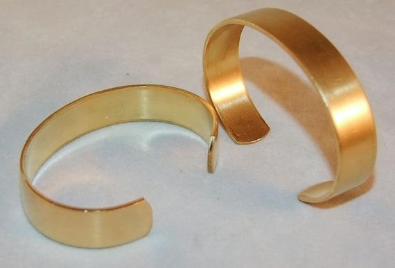 brass bracelet cuff blanks for jewelry making 5 inch pkg of 2