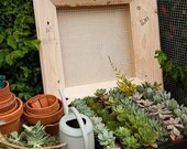 18x18 inch Unfinished Wood Succulent Frame