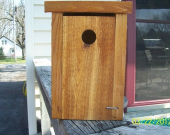 "New Rustic Bird Houses-wrens and chickdees (11/8"" Hole)"