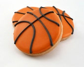 Decorated Cookies - Basketball - 1 dozen