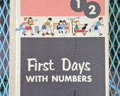 First Days With Numbers Vintage School Book
