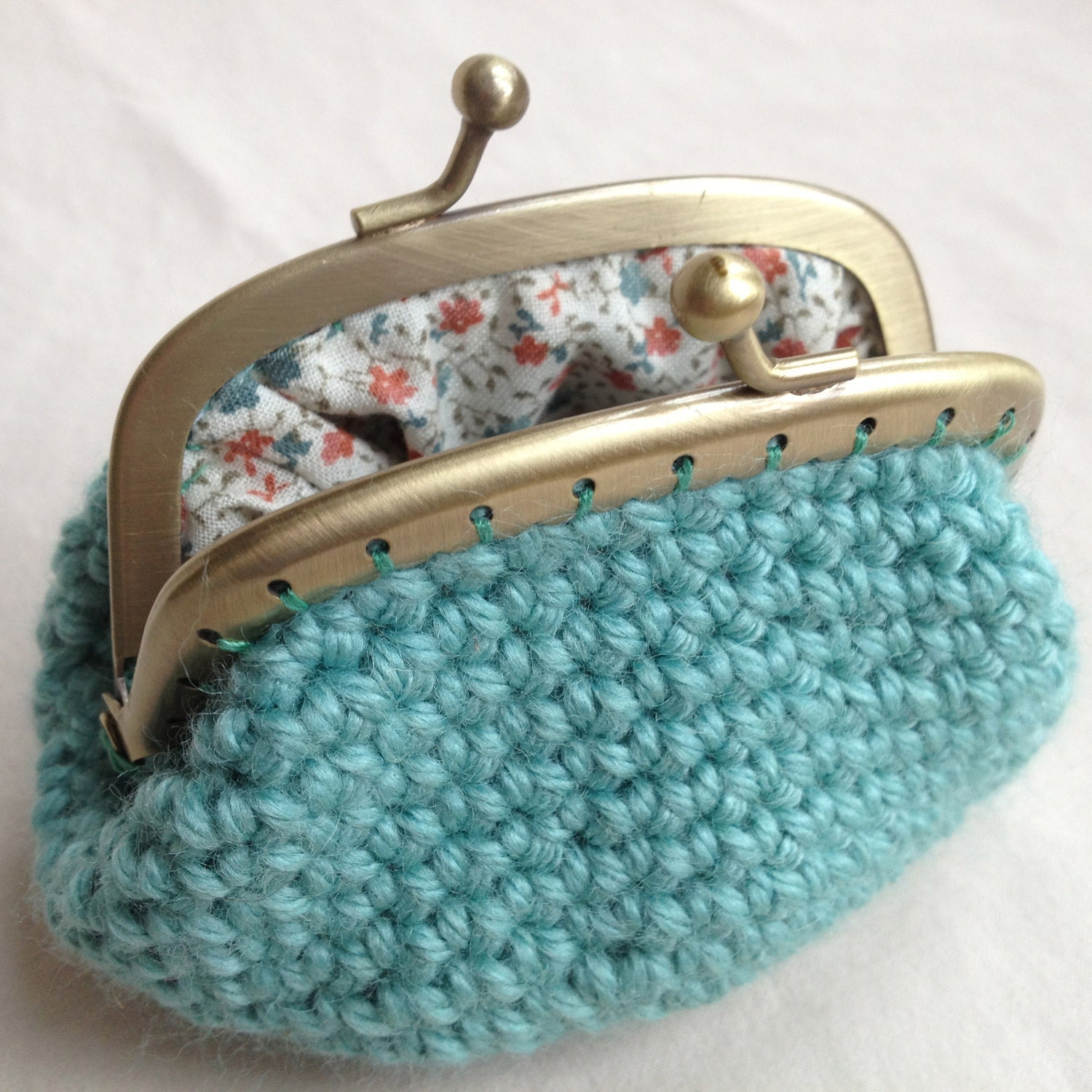 Sea Green Crochet Coin Purse By MakerMama On Etsy