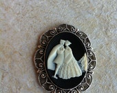 Kawaii Cinderella Prince Charming Wedding Ball Gown cameo Wedding Hair Clip Bobby Vintage Victorian Edwardian
