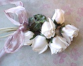 Reserved:  Beautiful Vintage 1950's White Rosebud Millinery Bouquet