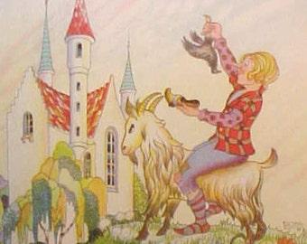 Darling Vintage Fairytale Scene Postcard-Hans Christian Andersen