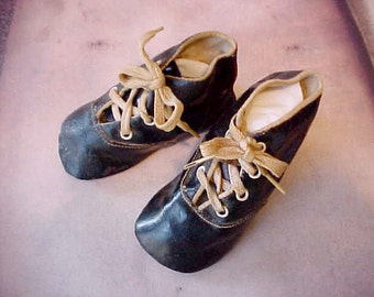 Darling Pair of Edwardian Era Child's Shoes-Great for a Larger Doll