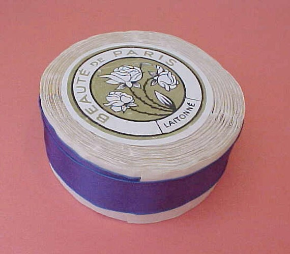 Reserved for Elisabeth:  Lovely Vintage Spool of French Plum Colored Ribbon from Paris