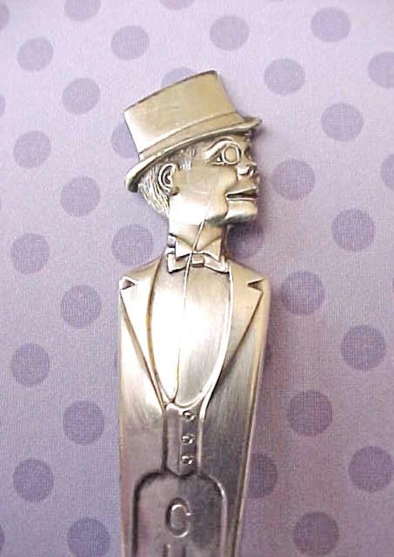 """Darling Vintage """"Charlie McCarthy"""" Silver Teaspoon"""