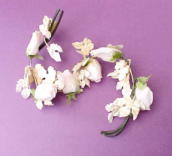 Reserved:  Pretty Little 1950's Millinery Flowers with Woolworth's Label
