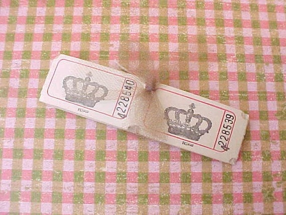 Pretty Little Vintage French Carnival Tickets with Crown Motif