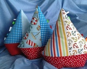 Stuffed Sailboat Pillow