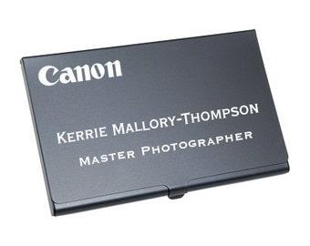 Metal Business Card Holder, Business Card Holder, Business Card Case, Custom Card Case, Custom Card Holder, Engraved Card Case