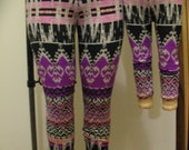 Reserved for Daughterofthesun Mom & Baby,ASHA- Purple Ikat Leggings