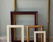 Custom Wood and Resin Picture Frames Bundle/ Upcycle Art Frames Set of 5