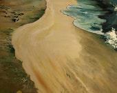 Beach Scene 40x50  Original Oil Painting