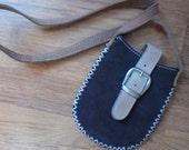 Handmade Buckskin Pouch/ Phone Holder