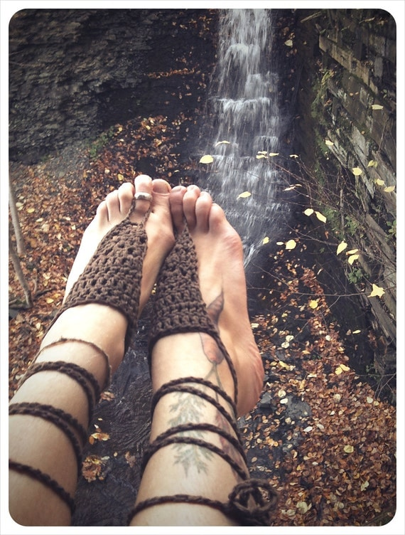 bare your sole. barefoot sandals. color shale. 'in stock/ ready to ship'