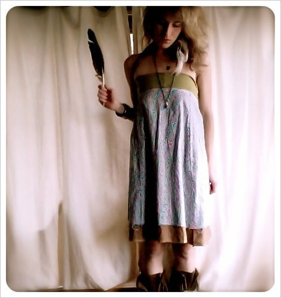 foreign one. versatile reversible travel dress. linen & cotton. 'made to order'