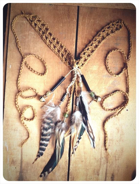 wolf tribe medicine sash. a tribal warrior talisman. 'in stock/ ready to ship'