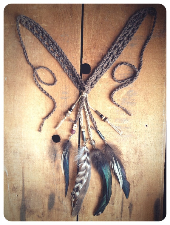 little wolf medicine sash. a tribal talisman. 'in stock/ ready to ship'