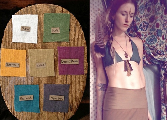 bikini top. organic bamboo hemp blend. choose your color. 'made to order'