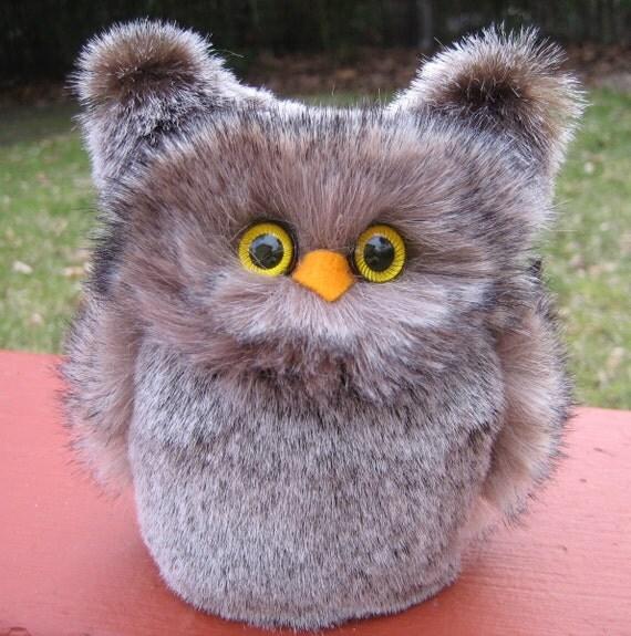 Stuffed animal Owl Plush Gray