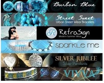 Custom banner Etsy banner and avatar  - Custom Header cover banner