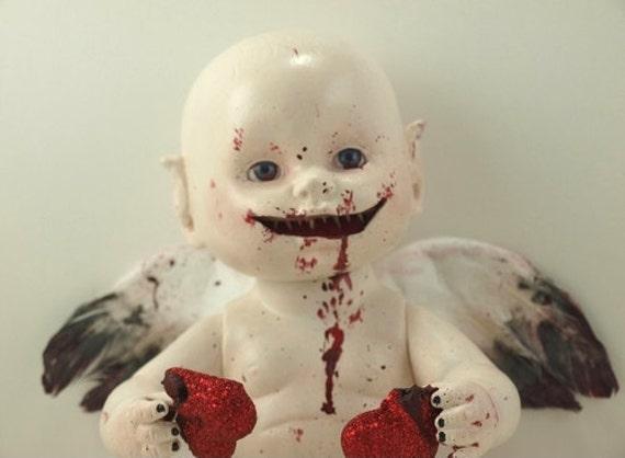 Demonic Twisted Cupid Baby Doll for Valentine's Day- Darkling Dolls
