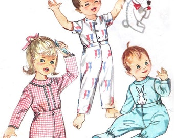 1960s Simplicity 4535 sewing pattern // Toddlers' Pajamas