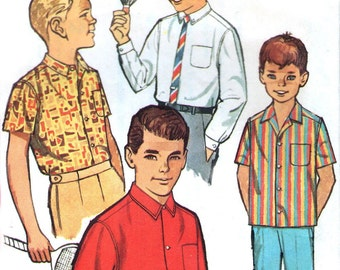 1960s Simplicity 4964 sewing pattern // Boys' Shirt with Convertible Cuff