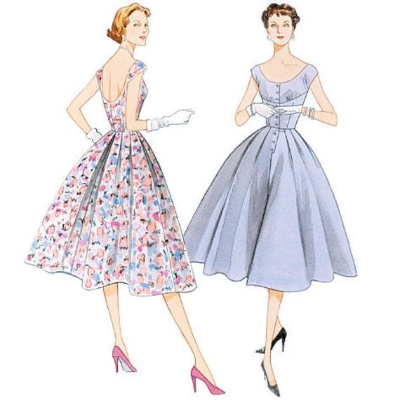 Vogue V2960 sewing pattern // Misses' Dress Original 1954 Design