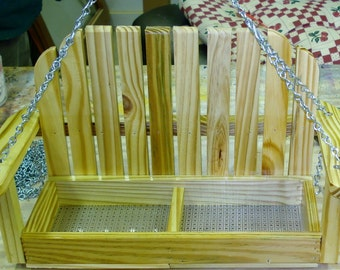 Wooden Swing Bird Feeder