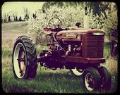 Vintage Tractor Photography Farm - 8x10 - Original Fine Art Photograph - Metallic Print - Farmall - Red - TTV - Antique - Lomography - Boys