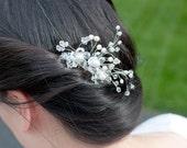 Ivory Pearls and Crystals Bridal Hair Comb