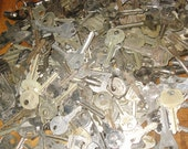 50 KEYS for all sorts of ART applications Steampunk, goth, scrapbooking, jewelry and more
