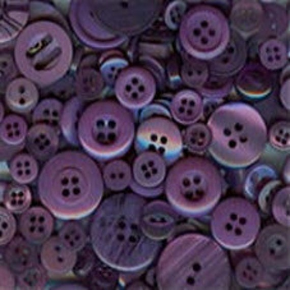 200 Small Assorted Purple buttons
